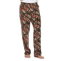 Men's Patterned Microfleece Lounge Pants