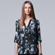 Petite Simply Vera Vera Wang Abstract Print Blouse