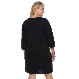 Plus Size Apt. 9® Asymmetrical Ribbed Shift Dress