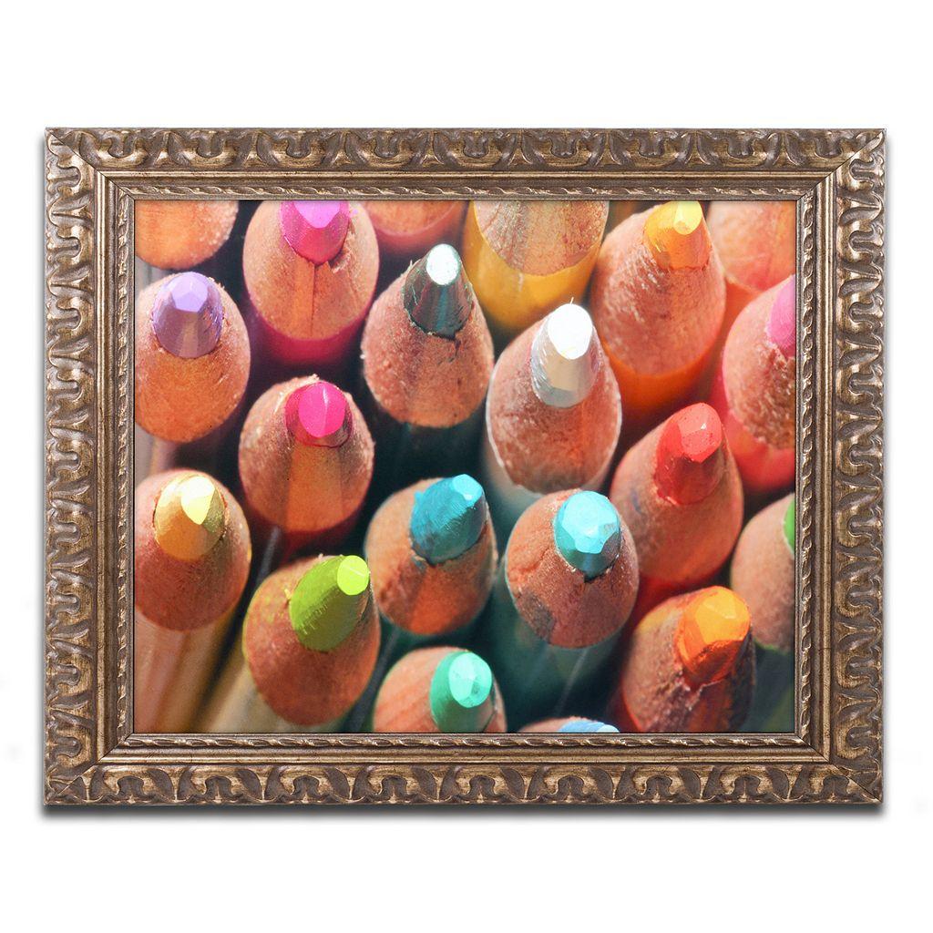 Trademark Fine Art Pencils Ornate Framed Wall Art