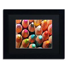 Trademark Fine Art Pencils Black Framed Wall Art