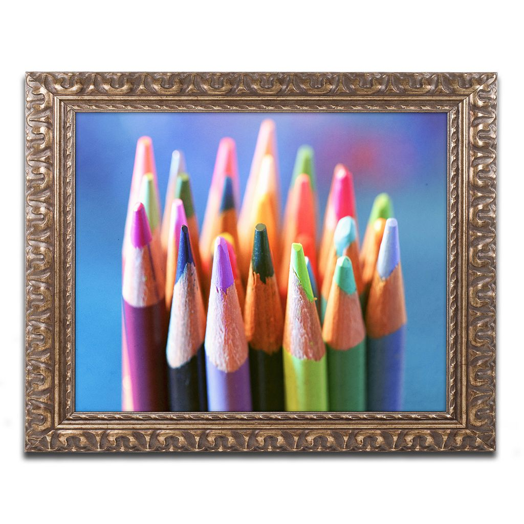 Trademark Fine Art Pencils 2 Ornate Framed Wall Art