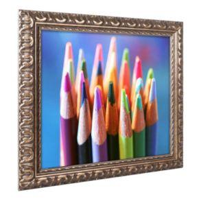 Trademark Fine Art Pencils 2 Ornate Framed Wall Art