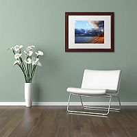 Trademark Fine Art Lake Erie Autumn Framed Wall Art