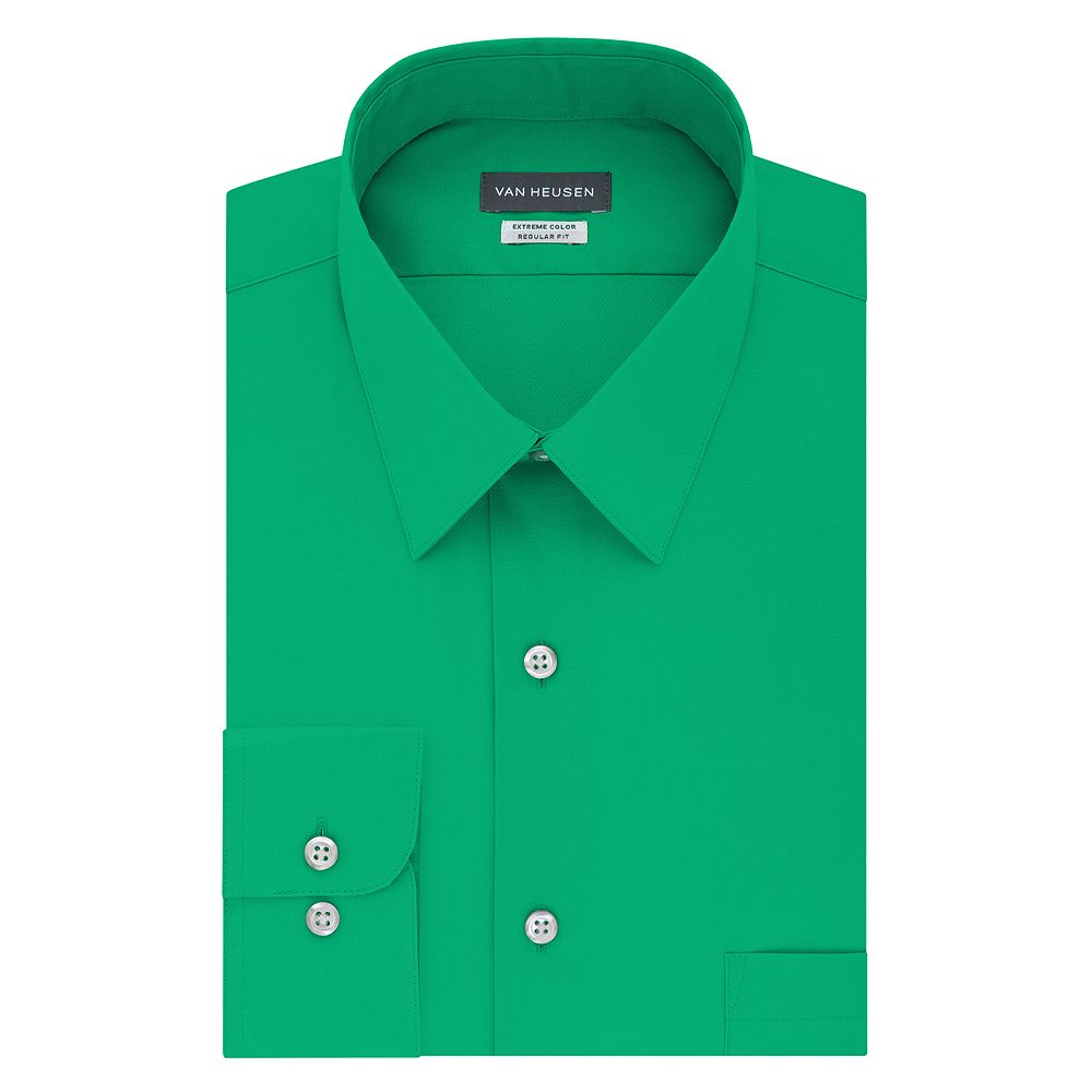 Mens Van Heusen Extreme Color Endurance Regular Fit Dress Shirt