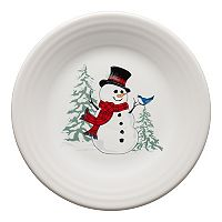 Fiesta Snowman Luncheon Plate