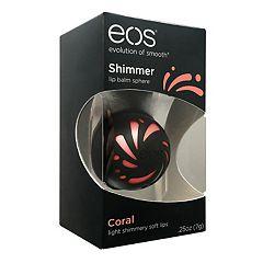 eos Coral Shimmer Lip Balm