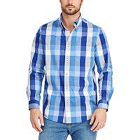 Men's Chaps Classic-Fit Plaid Stretch Poplin Button-Down Shirt