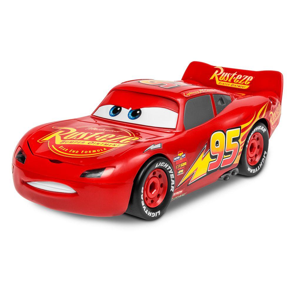 Uncategorized Lightning Mcqueen Car pixar cars 3 lightning mcqueen red model assembly kit by revell jr disney jr