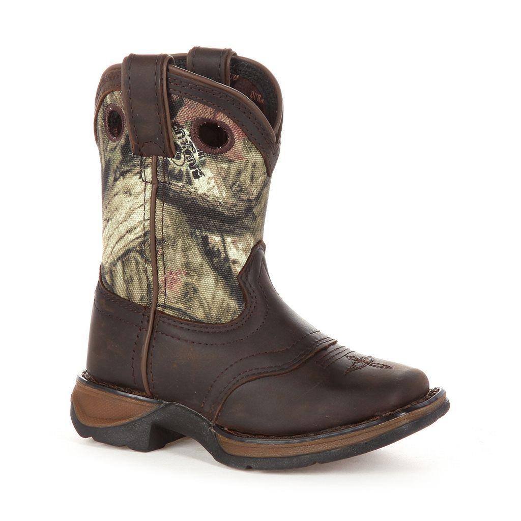 Lil Durango Sadle Kids Camouflage Western Boots