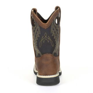Lil Durango Black Saddle Toddler Western Boots