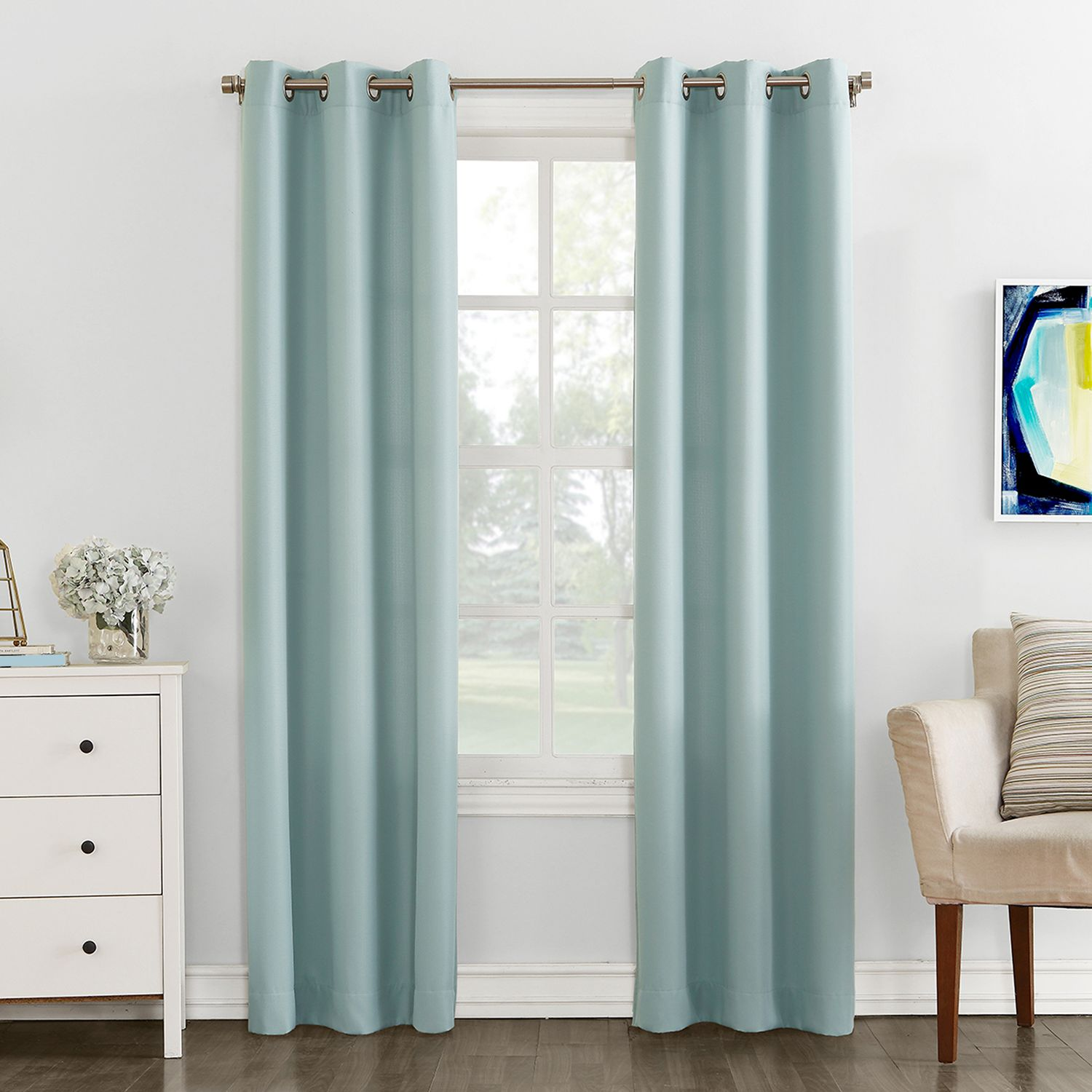 the big one 2pack solid window curtains