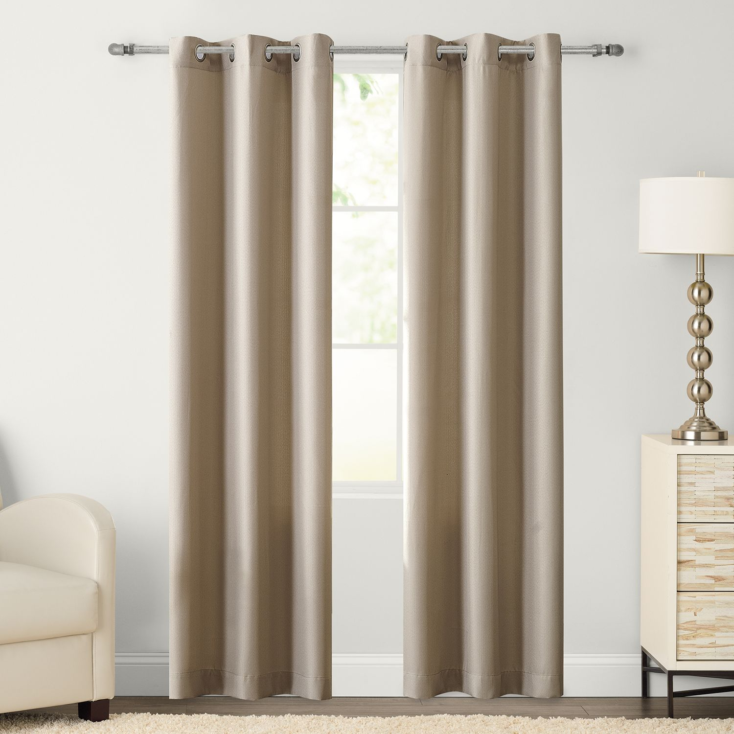 Bon The Big One® 2 Pack Decorative Solid Window Curtains