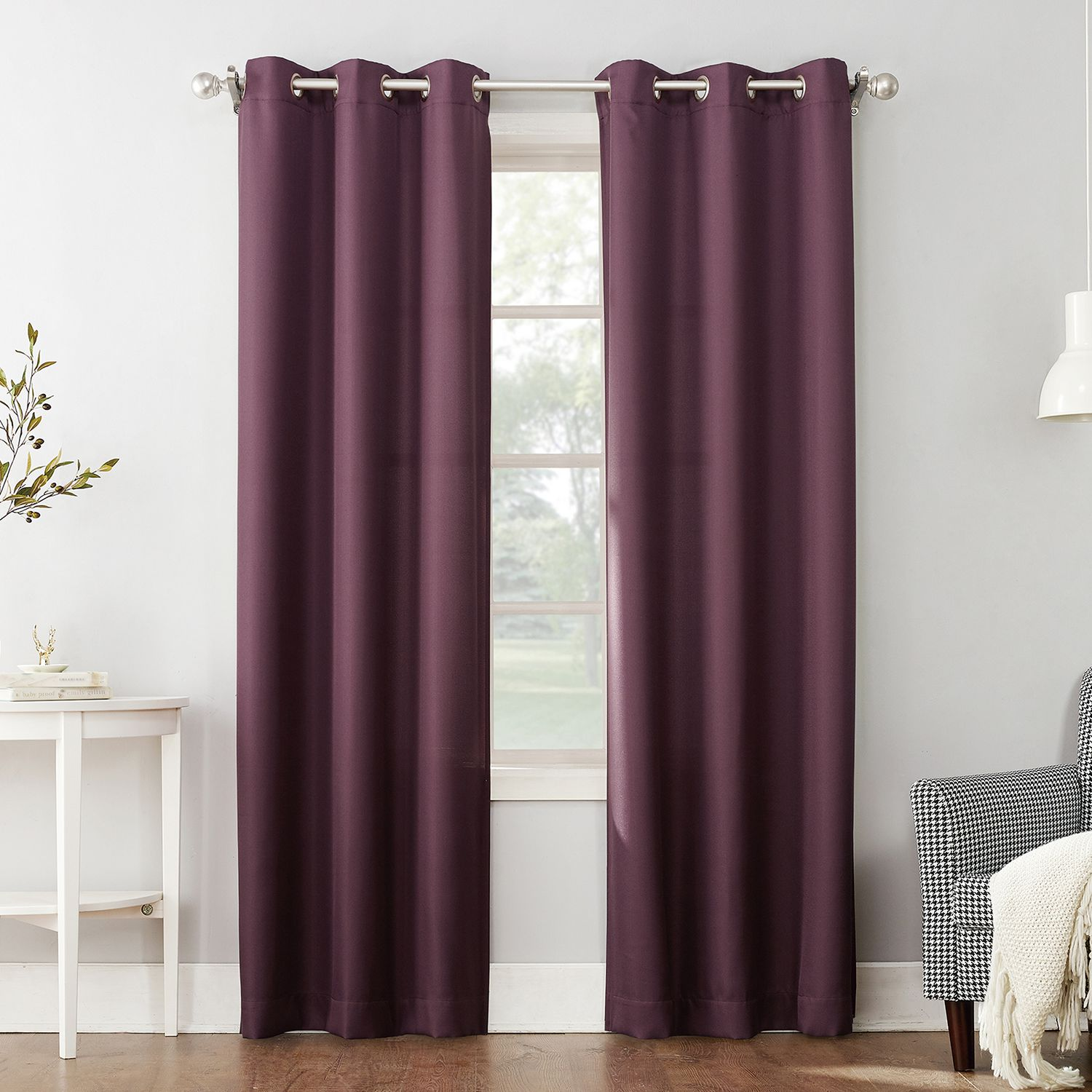 The Big One® 2 Pack Decorative Solid Window Curtains