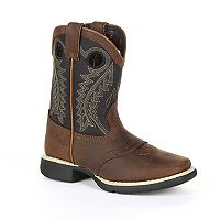 Lil Durango Black Saddle Kids Western Boots