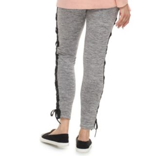 madden NYC Juniors' Lace Up Leggings