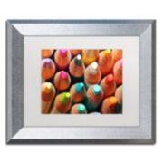 Trademark Fine Art Pencils Silver Finish Framed Wall Art