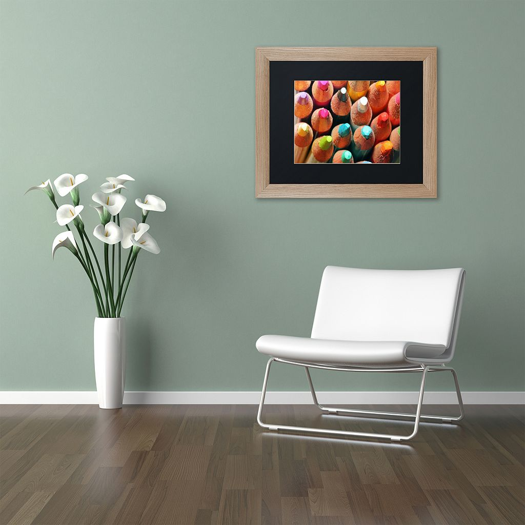 Trademark Fine Art Pencils Distressed Framed Wall Art