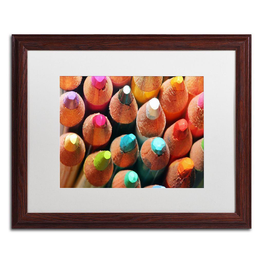 Trademark Fine Art Pencils Framed Wall Art