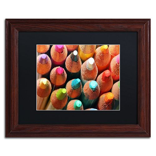Trademark Fine Art Pencils Framed Wall Art