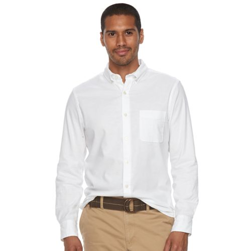 Men's Sonoma Goods For Life™ Flexwear Slim Fit Oxford Button Down Shirt by Kohl's