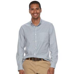 Men's SONOMA Goods for Life™ Flexwear Slim-Fit Plaid Poplin Button-Down Shirt