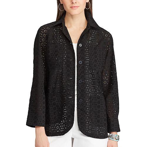 Women's Chaps Eyelet Lace Shirt Jacket
