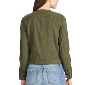 Women's Chaps Crop Twill Jacket