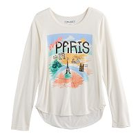 Girls 7-16 & Plus Size Mudd® High-Low Graphic Tee
