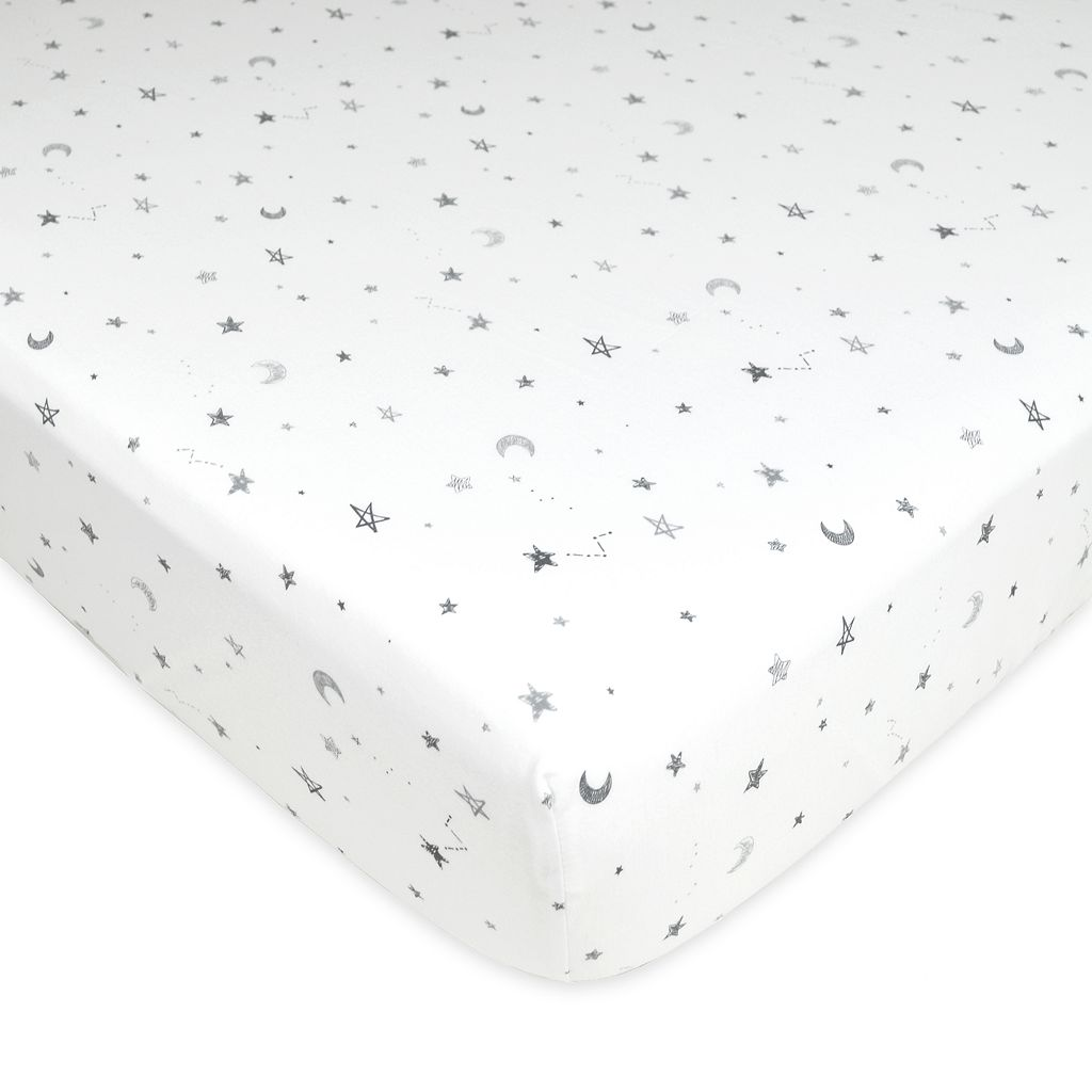 TL Care Jersey Knit Fitted Crib Sheet