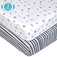 TL Care 2 pkPatterned Jersey Knit Fitted Crib Sheet