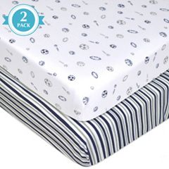 TL Care 2-pk. Patterned Jersey Knit Fitted Crib Sheet
