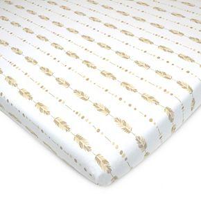TL Care Patterned Jersey Knit Portable/Mini Crib Sheet