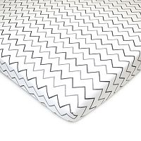 TL Care Patterned Jersey Knit Portable/Mini Crib Sheet