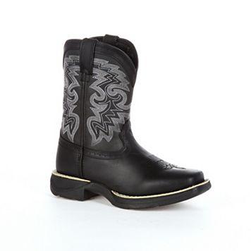 Lil Durango Black Stockman Toddler Western Boots