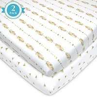 TL Care 2-pk. Patterned Jersey Knit Portable/Mini Crib Sheet