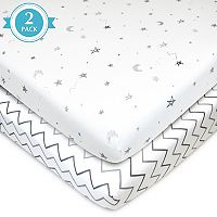 TL Care 2 pkPatterned Jersey Knit Portable/Mini Crib Sheet