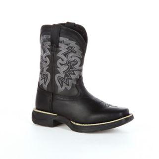 Lil Durango Black Stockman Kids Western Boots