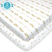TL Care 2 pkPatterned Jersey Knit Playard Fitted Sheet
