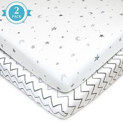 TL Care 2-pk. Patterned Jersey Knit Playard Fitted Sheet