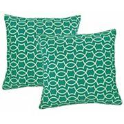 Metje Titan Geometric Indoor Outdoor 2 pc Reversible Throw Pillow Set