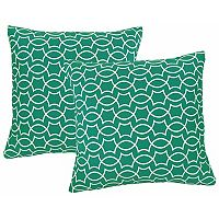 Metje Titan Geometric Indoor Outdoor 2-piece Reversible Throw Pillow Set