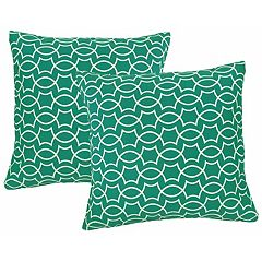 Metje Titan Geometric Indoor Outdoor 2 pc Reversible Throw Pillow Set