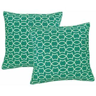 Metje Titan Geometric Indoor Outdoor 2-piece Reversible Throw Pillow Set