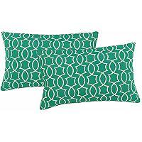 Metje Titan Geometric Indoor Outdoor 2 pc Reversible Oblong Throw Pillow Set