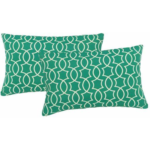Metje Titan Geometric Indoor Outdoor 2-piece Reversible Oblong Throw Pillow Set