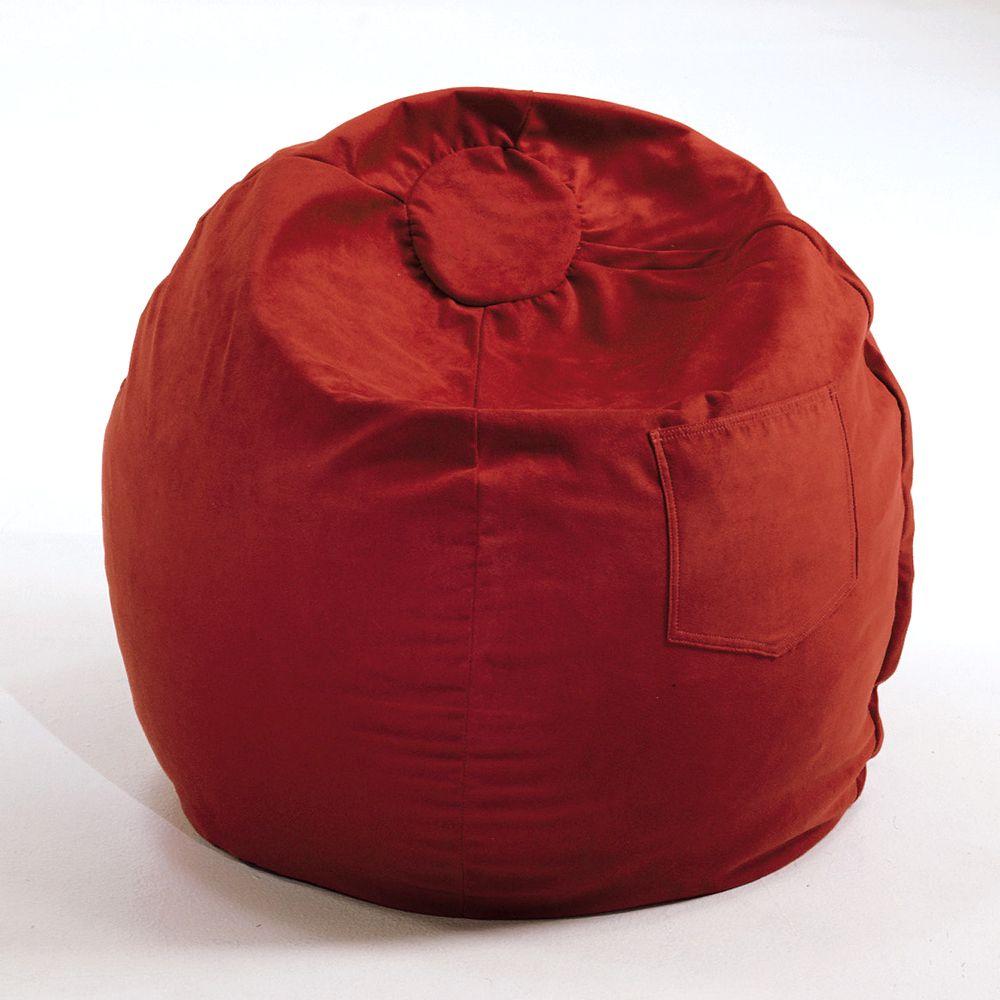 Fun Furnishings Small Microsuede Beanbag Chair