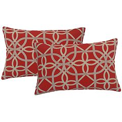 Metje Keene Geometric Indoor Outdoor 2-piece Reversible Oblong Throw Pillow Set