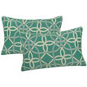 Metje Keene Geometric Indoor Outdoor 2 pc Reversible Oblong Throw Pillow Set