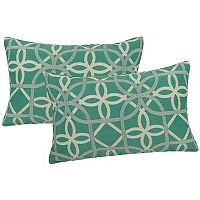 Metje Keene Geometric Indoor Outdoor 2 pc Reversible Oblong Throw Pillow Set